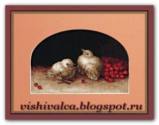 """Чарівна Мить 540 """"Птички с рябиной"""""""