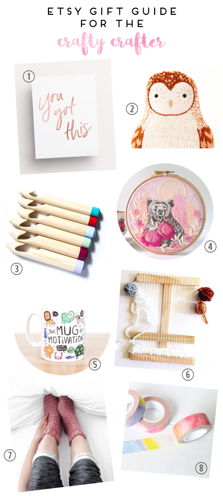 ETSY GIFT GUIDE FOR THE CRAFTY CRAFTER.