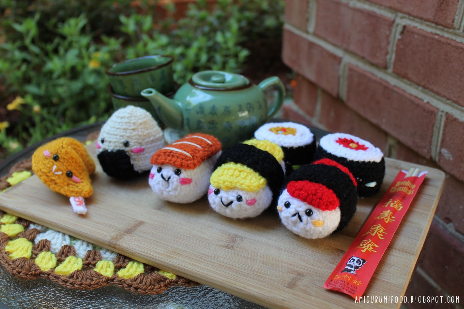 Bento family 2 Sushi set amigurumi pattern - Amigurumipatterns.net | 1066x1600