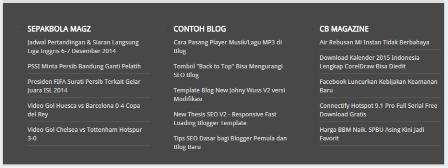 Cara Menambah Footer Widget 3 Kolom di Blogger