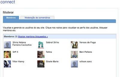 Imagem do Google Friend Connect gadget normal 16/12/2011
