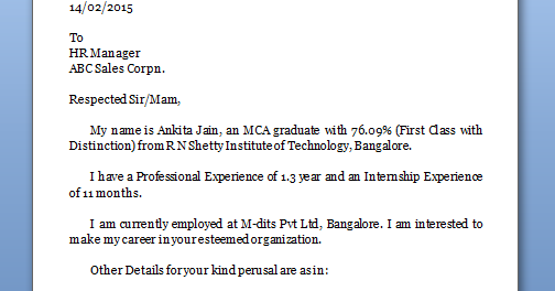 Cover Letter Resume What Should Say What Should Cover Letter Say