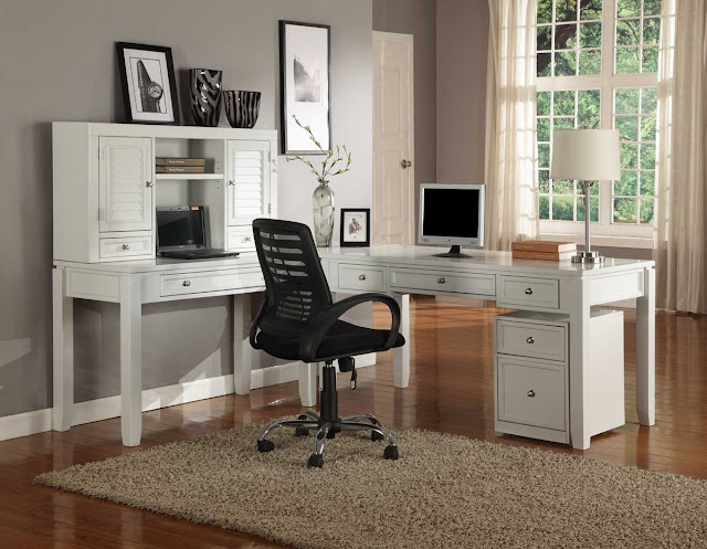 outstanding small office ideas with white l shaped computer desk and modern black swivel bar stool