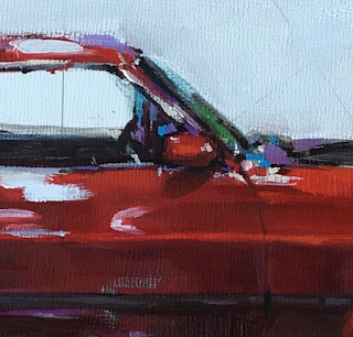 mach1 ford mustang oil painting