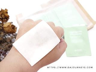 Review Mustus Chlo Gauze Peeling Pad
