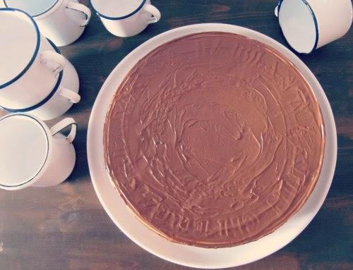 Presentación Tarta de obleas y nutella