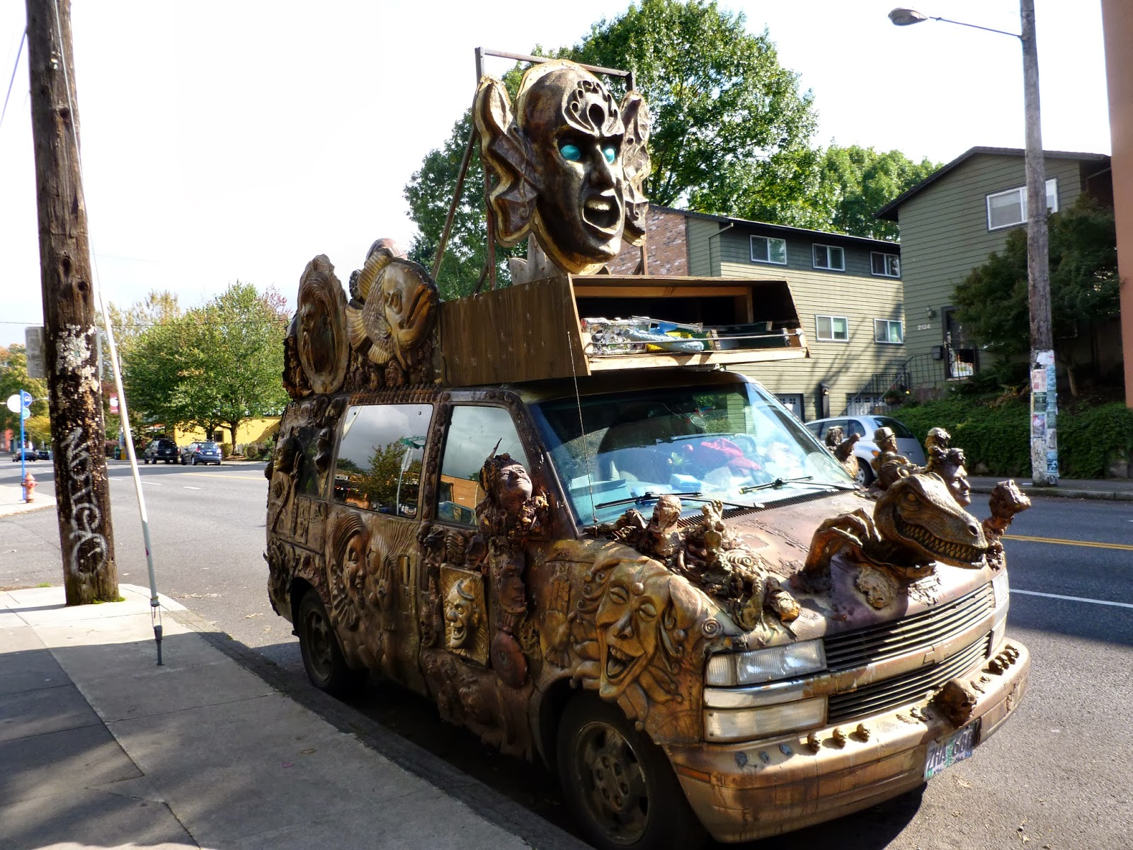 crazy Portland car art