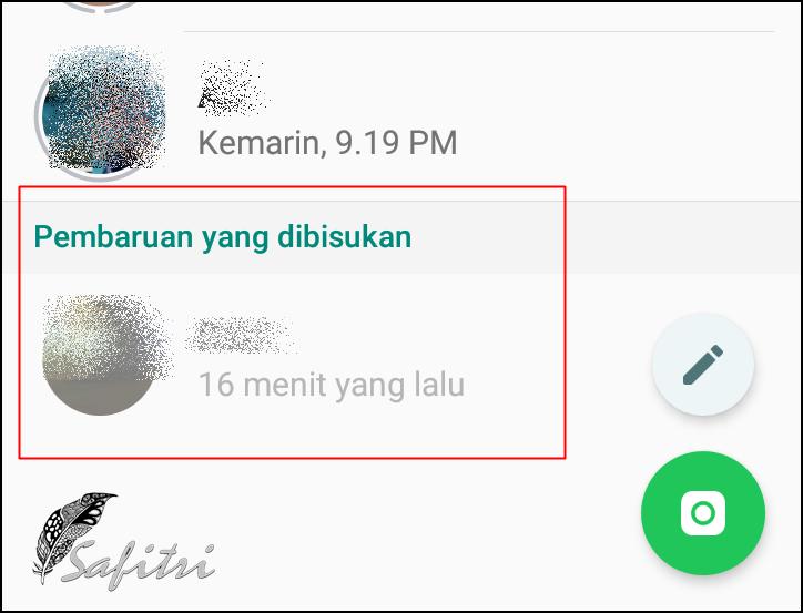Cara Membunyikan Kembali Status Whatsapp Teman Yang Dibisukan