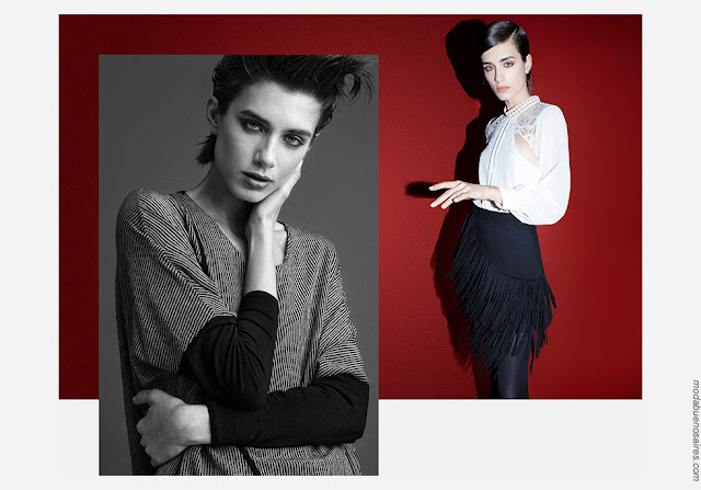 Moda mujer invierno 2018 abrigos, blusas, faldas otoño invierno 2018.