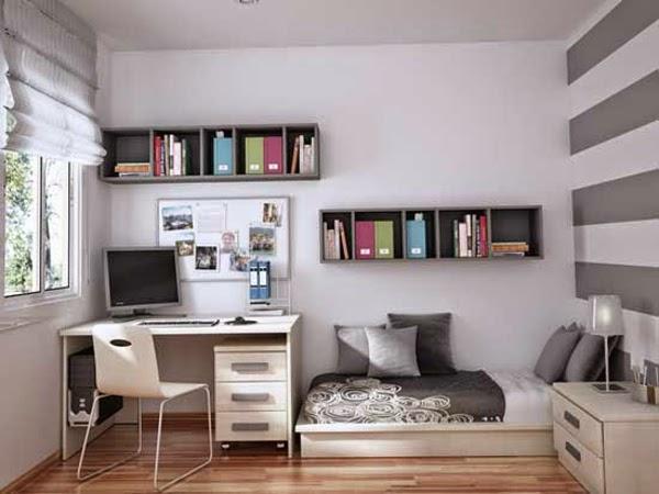 Dormitorios juveniles en gris y blanco   colores en casa