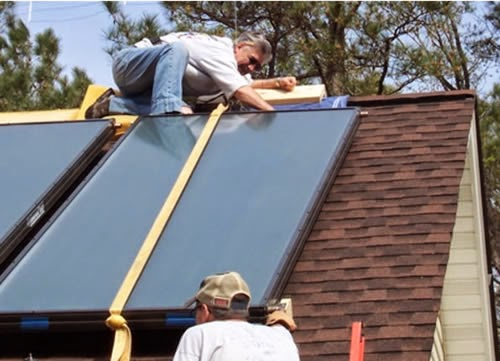 Build It Solar Blog Large Diy Solar Water Heating System In