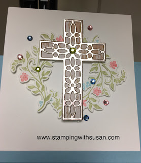www.stampingwithsusan.com, Stampin' Up!, Cross of Hope Framelits, Hold on to Hope