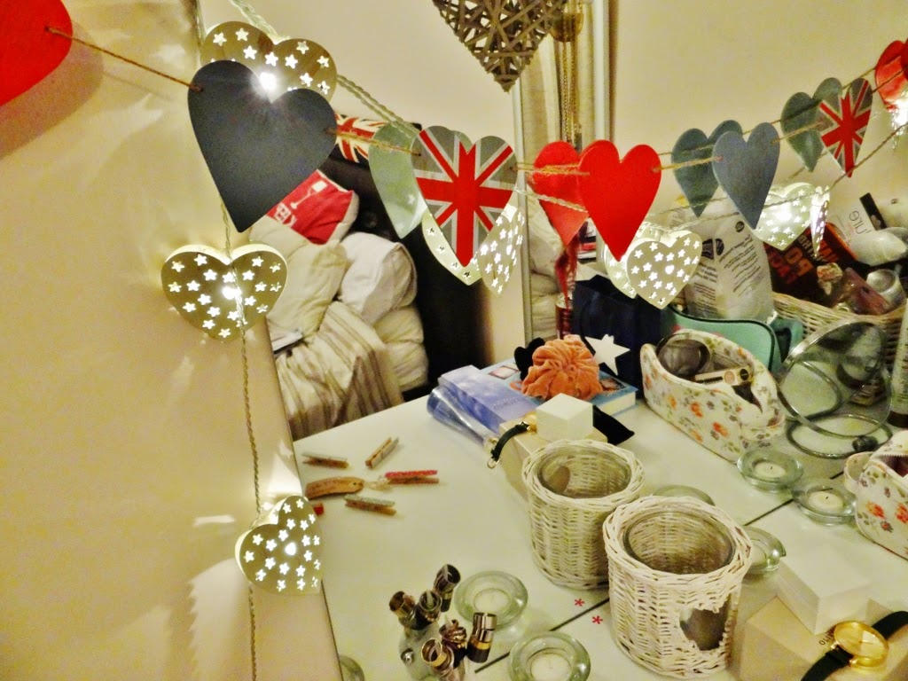 heart fairy lights home decor