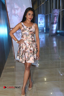 Actress Madhu Shalini Stills in Floral Short Dress at RGV Shiva to Vangaveeti Event  0171.JPG