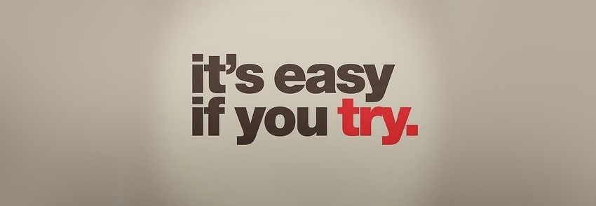 its easy if you try