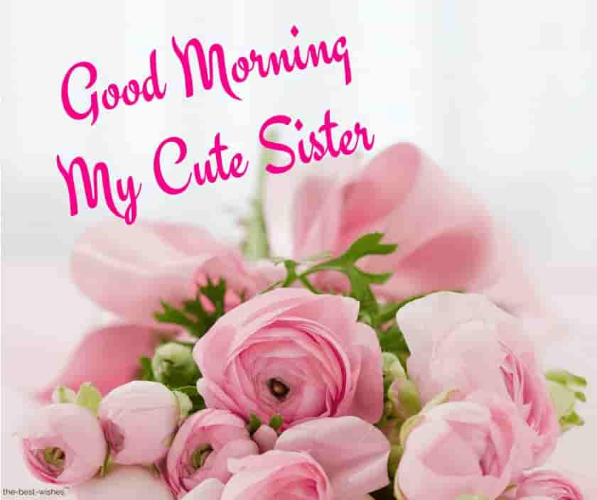 good morning my cute sister