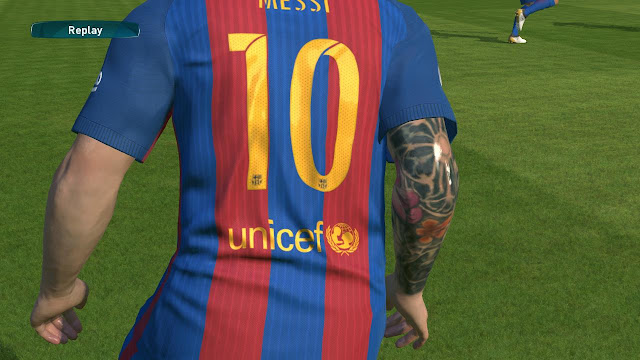 PES 2017 Messi tattoo mod