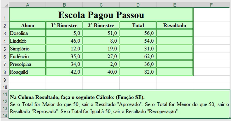 Exercícios Excel Avançado. Função SE & SE/E