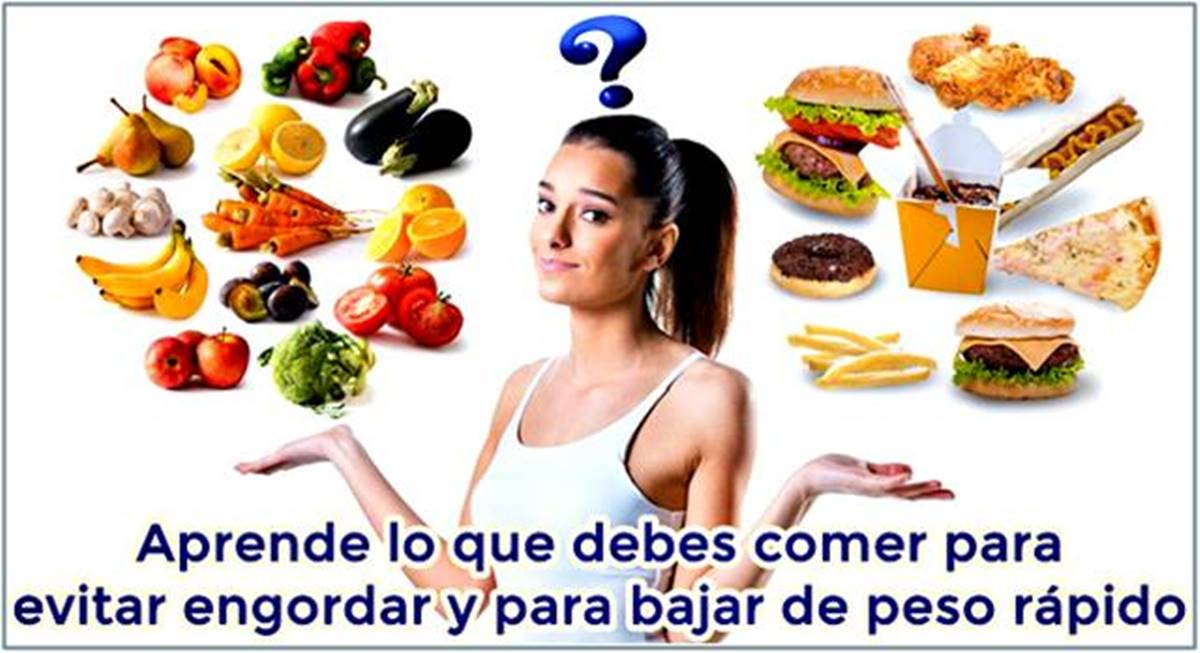 Conoce lo que debes comer y tomar para evitar engordar
