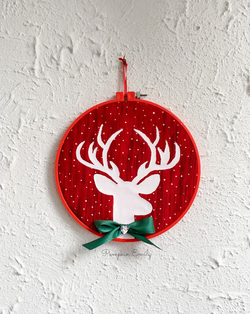 DIY Embroidery Hoop Art with a Reindeer