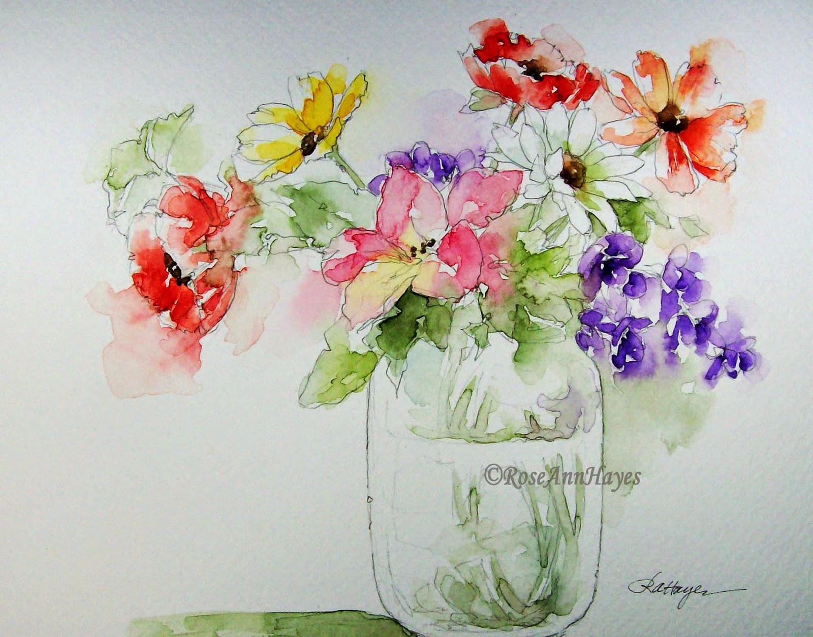 watercolor paintings of flowers - HD1600×1197