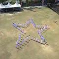 Keren Gaeeess... Paskibraka di Wajo Atraksi Membentuk Formasi Bintang Pancasila