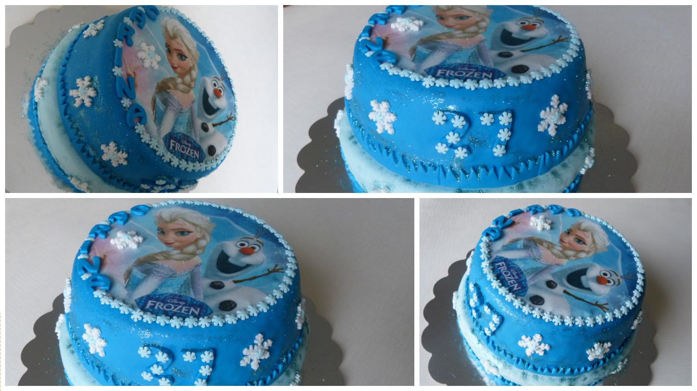 Attractif Gâteau Reine de Neige (Elsa et Olaf) II79
