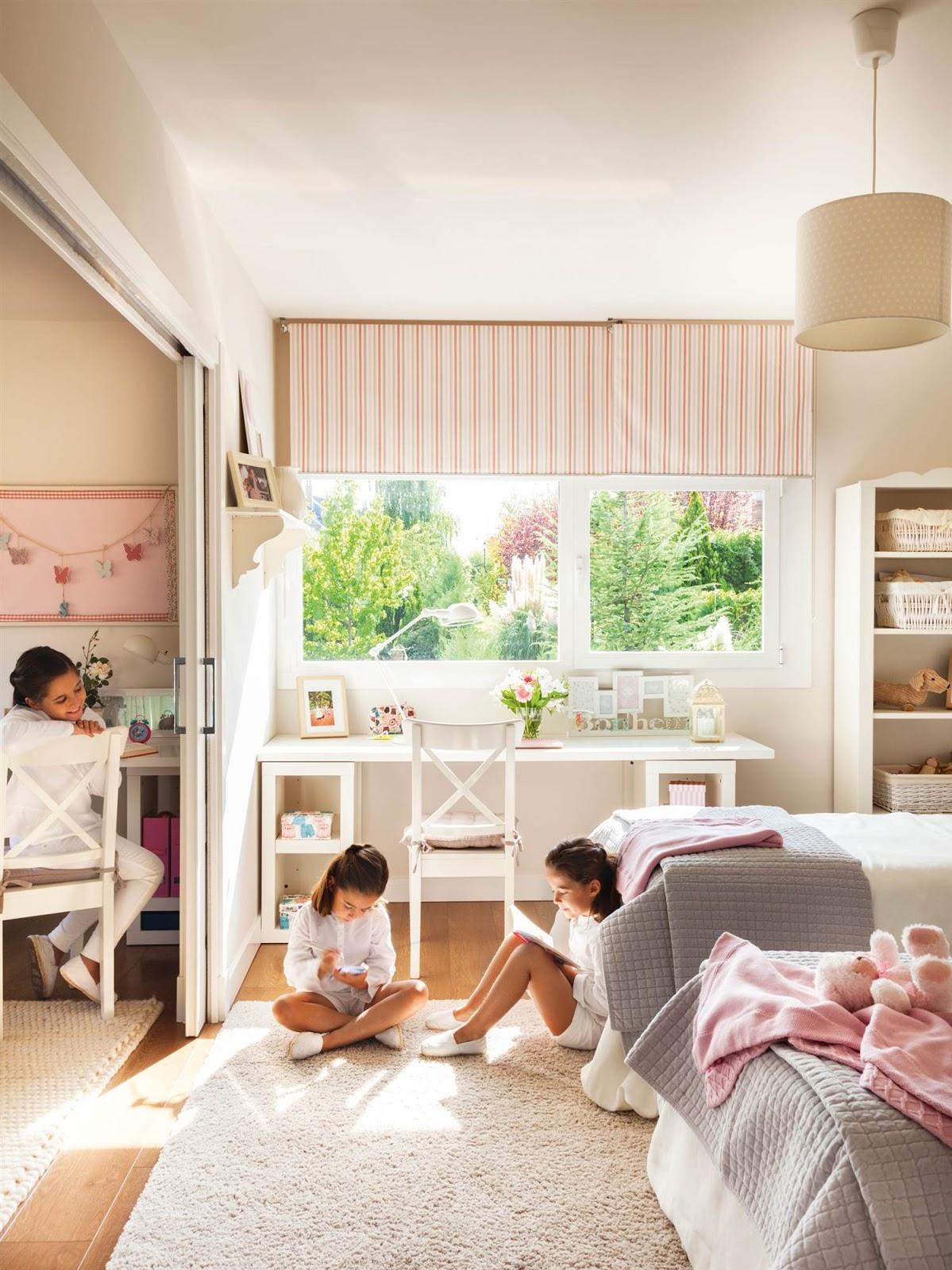 Casa tr s chic quarto de crian a - Dormitorios infantiles blancos ...