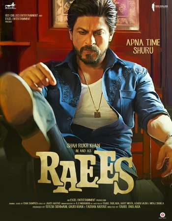 Raees 2017 Hindi 600MB HDRip 720p HEVC Watch Online Google Drive Free Download downloadhub.in