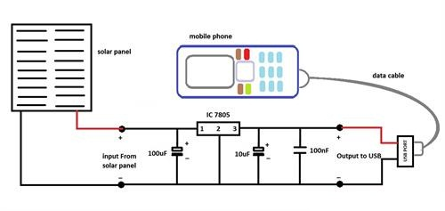 Solar Mobile Charger Circuit Diagram