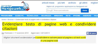 evidenziatore web