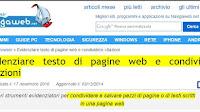 Evidenziare il testo di pagine web e condividerlo con un link
