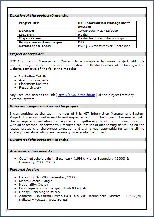 resume blog co  beautiful resume    cv of mca  master of