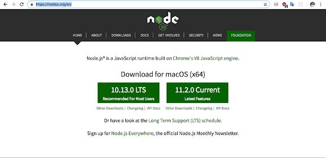 Hướng dẫn cài đặt nodejs trên MAC OS