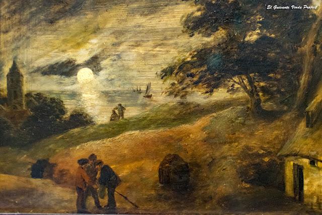 Adriaen Brouwer, 'Paisaje con Luna llena' - Gemäldegalerie, Berlin por El Guisante Verde Project