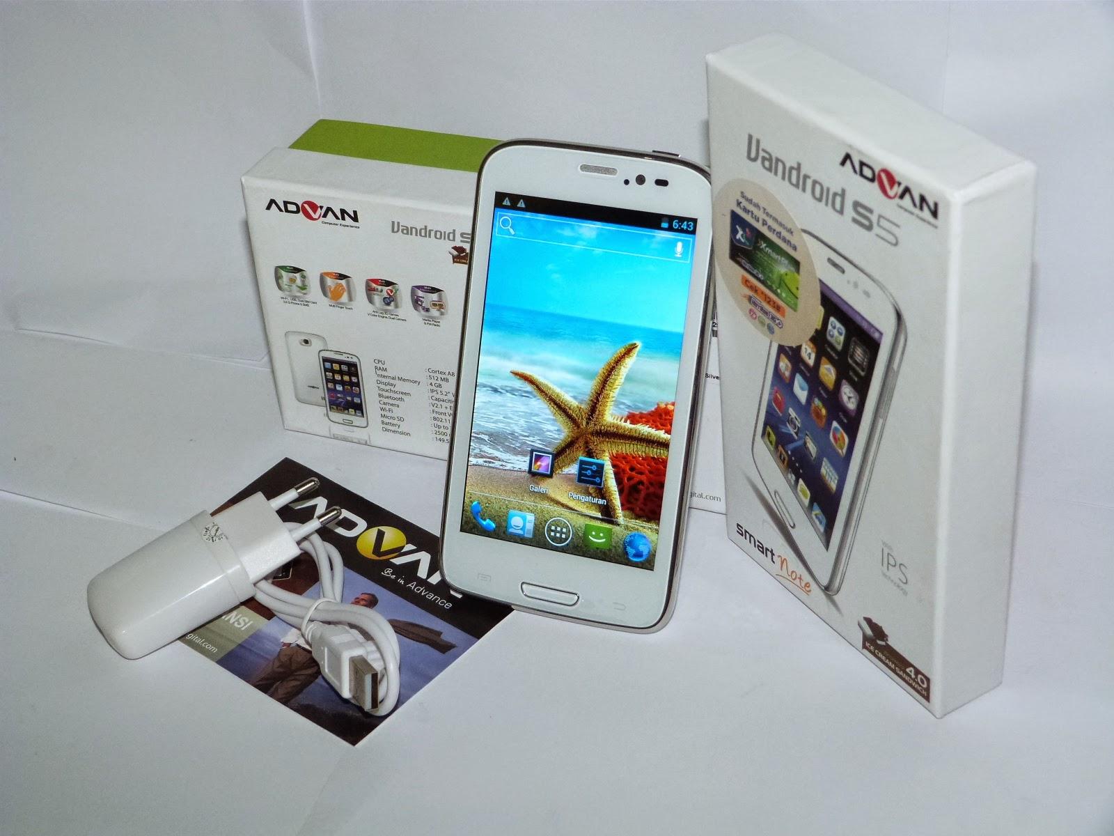 Hp Android Murah Berkualitas Advan Vandroid S5 Gambar Isi Kotak