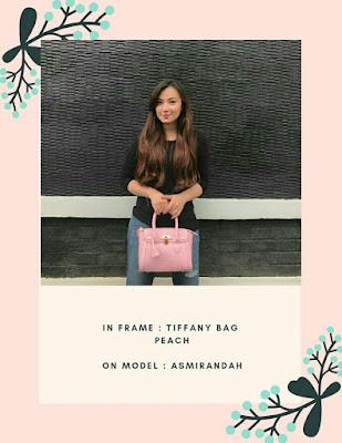 Asmirandah and JH Tiffany Bag Peach