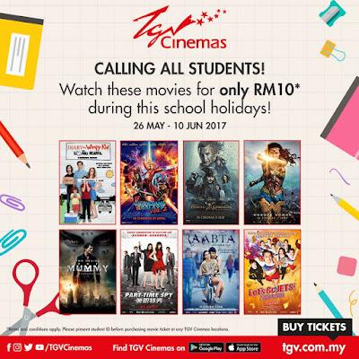 TGV Cinemas Student Price Movie Ticket School Holiday Promo