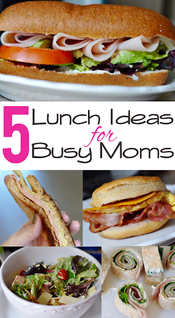 Check out these awesome lunch ideas for busy moms!  Perfect on the go meals with quick prep.