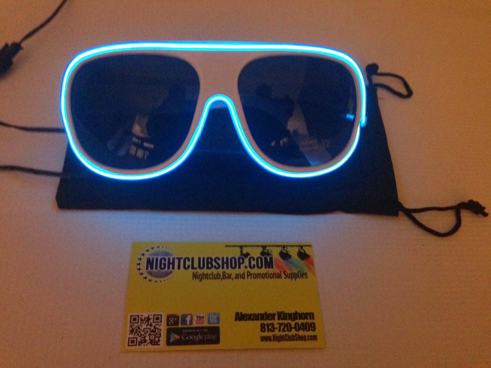 ae4222a6c58cc NEW LED AVIATOR SUN GLASSES Are IN! LED Light Up Illuminated Sun Glasses