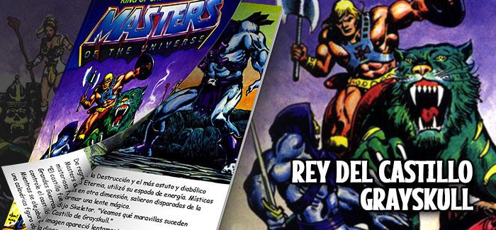 Minicómic Rey del Castillo Grayskull Mattel 1982