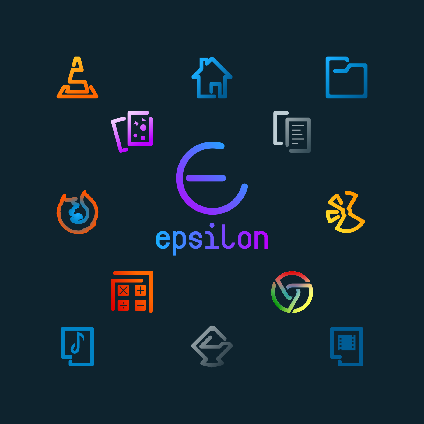 Epsilon Icons, New Modern Icons theme for Ubuntu and Other