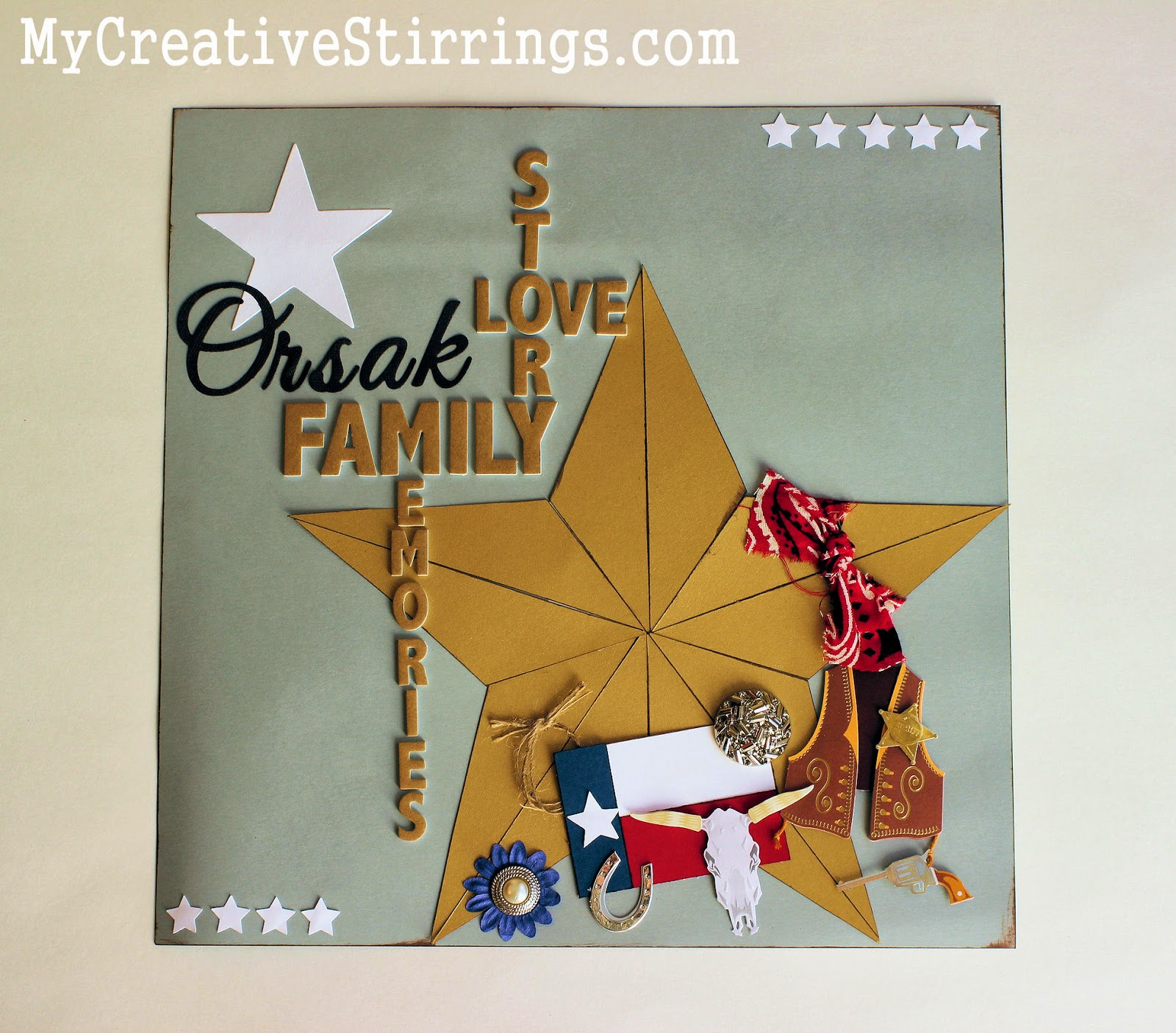 My Creative Stirrings Scrapbook Page Ideas With A Texan Owl Family