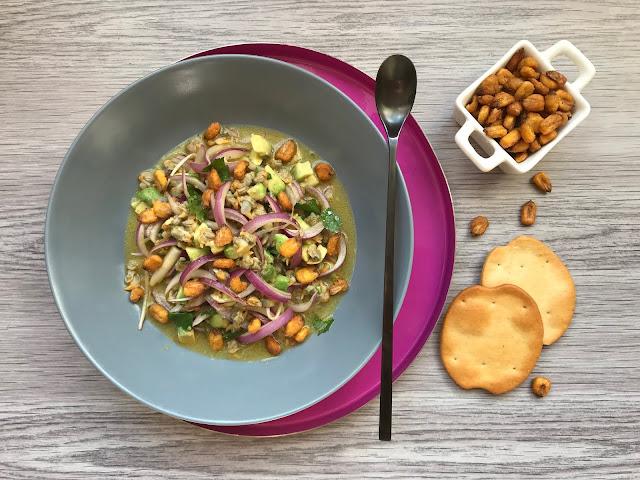 ceviche de berberechos receta