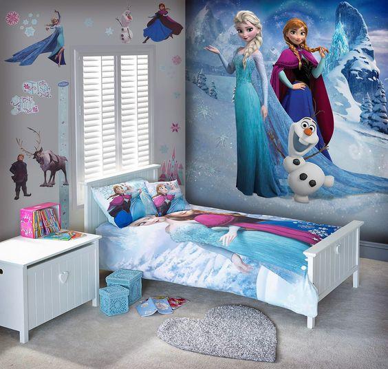Disney tapet Frost Tjejtapet Tjejrum Barntapet Barnrum fototapet