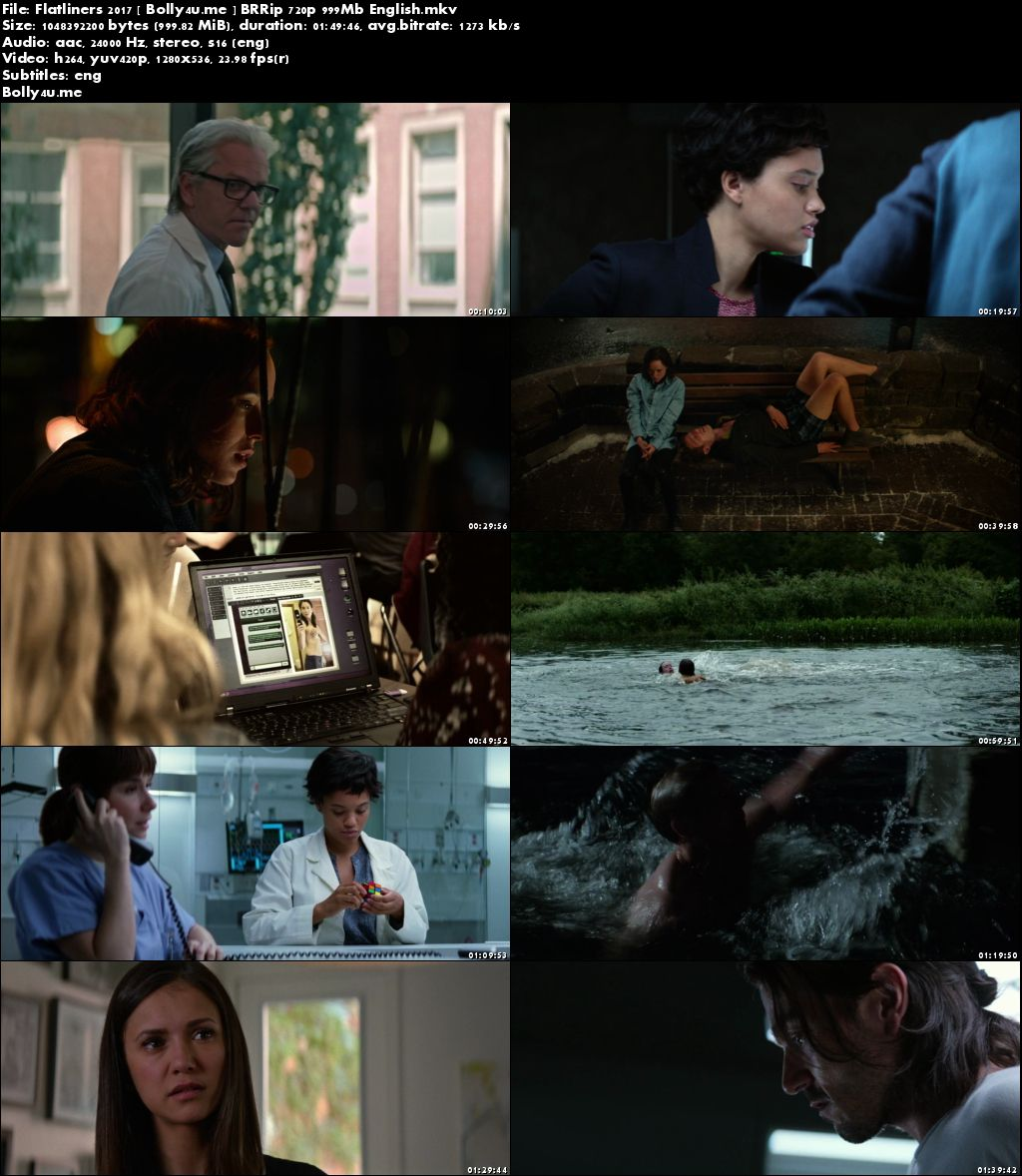 Flatliners 2017 BluRay 300Mb English Movie 480p ESub Download