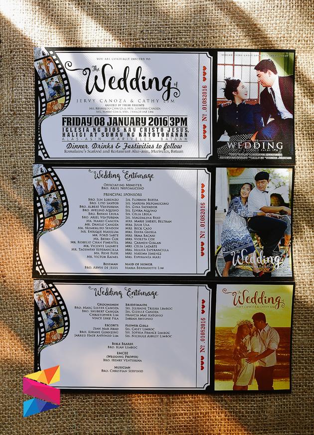 Jervy & Cathy Movie Ticket Themed Wedding Invitation - Stunro ...
