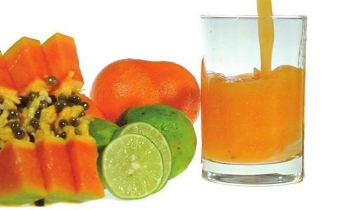 Jus buah jeruk pepaya obat flu
