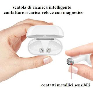 auricolare bluetooth 4.2 i8 mini tws magnetico