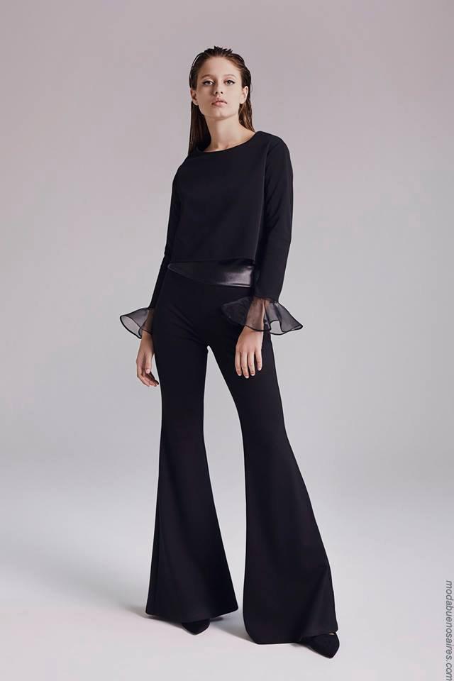 Moda otoño invierno 2019 ropa de mujer elegante y femenina. Pantalones oxfords invierno 2019.